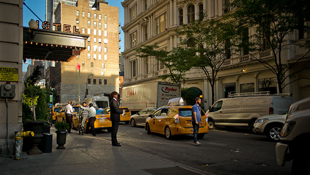 You can figure out the story from the keywords in this file: 2015; 29th Street; ACE Hotel; Broadway; Leica 28mm Summilux-M ASPH f/1.4; Leica M 240; New York; September; Stomptown Coffee; Thorsten von Overgaard; artprint; taxi; yellow cab.