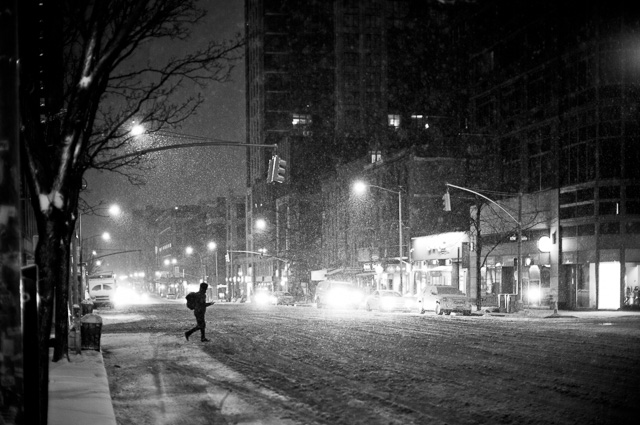 6th Avenue 04 AM in New York during the 2016 Blizzard. Leica M 240 with Leica 50mm Noctilux-M ASPH f/0.95. © 2016 Thorsten von Overgaard.