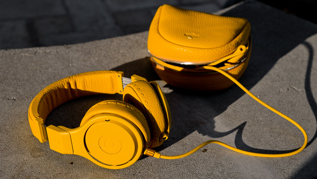 FENDI X Beats Pro in yellow calfskin leather