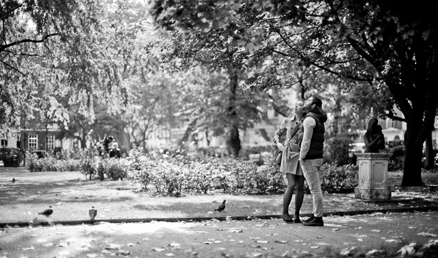 Autumn romance in Queen Square Gardens, London, October 2015. Leica M 240 with Leica 50mm Noctilux-M ASPH f/0.95