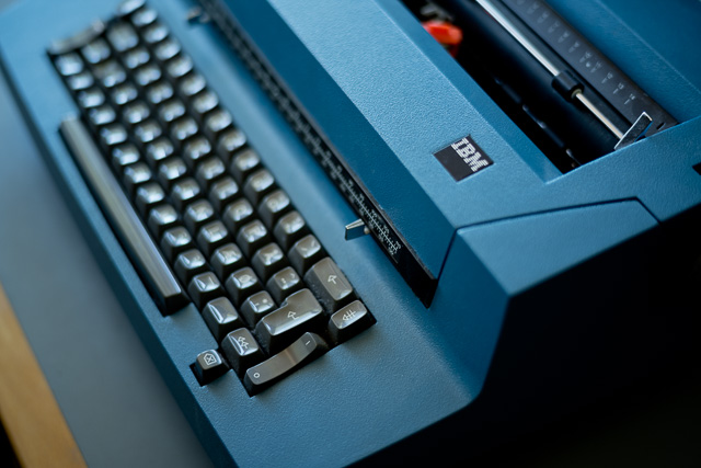 I re-bought my old love, a IBM 196C typewriter.