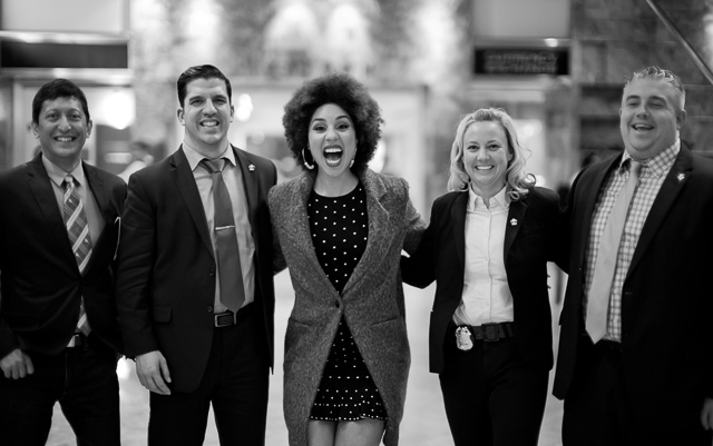 Princess Joy Villa and comedian Dan Nainan with the Secret Service at Trump Tower. Leica M10 with Leica 50mm Noctilux-M ASPH f/0.95. © 2017 Thorsten Overgaard.