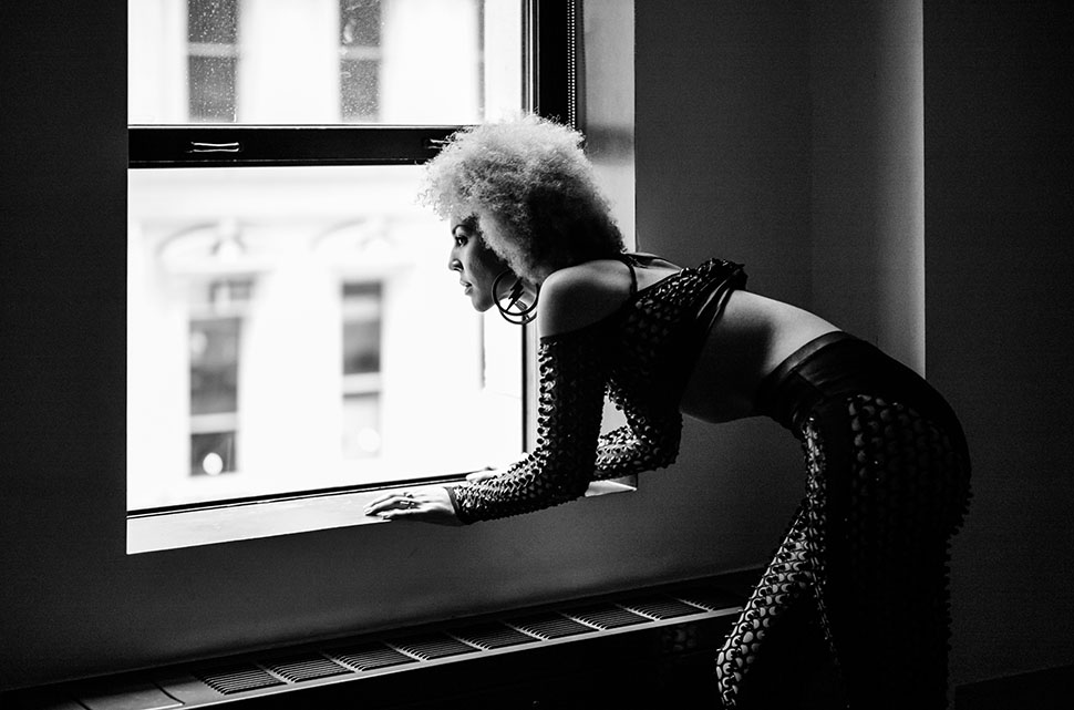 Joy Villa at ACE Hotel, in an outfit by underground punk fashion icon, Natasha of NYC by JB Rasor. Leica M240.