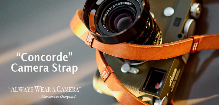 The 'Concorde' Leather Camera Strap for Leica M