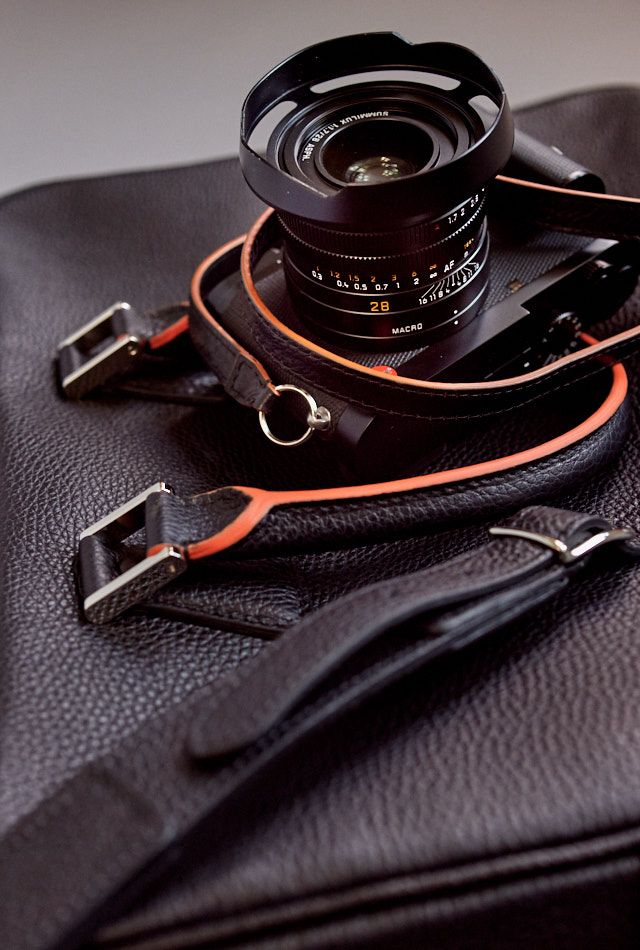 "Leica Q2 on my The Von ""New York"" calfskin bag. © Thorsten Overgaard."