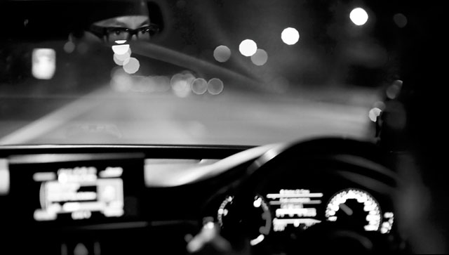 Driving with Andrew Lum. Leica M 240 with Leica 50mm Noctilux+M ASPH f/0.95. © Thorsten Overgaard.