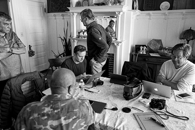 "Excitement and unrest as the workshop edits the last photos before the presentation of ""The Three Best"" every day of the workshop. San Francisco. Leica Q2. © Thorsten Overgaard."