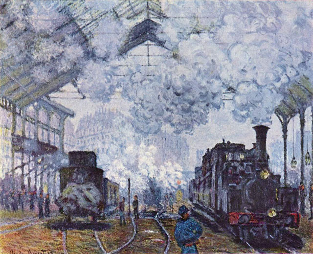 Gare Saint-Lazare by Claude Monet.
