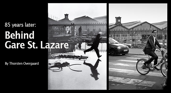 Revisiting the scene of the famous Henri Cartier-Bresson photograph Behind Gare St. Lazare 85 years later