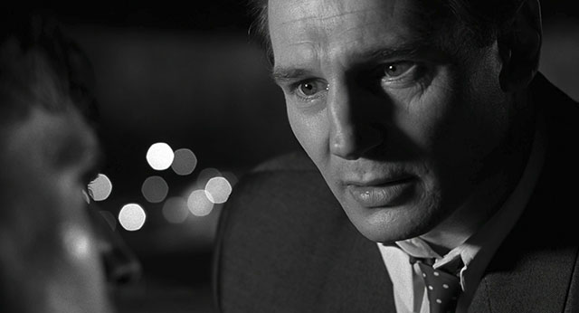 A bit of pin light in the eyes on Schindler's List (1993, directed by Steven Spielberg, cinematography by Janusz Kaminski).