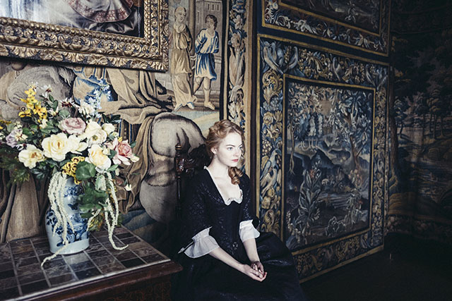 "From ""The Favourite"" that was largely shot with a 6mm Panavision fisheye lens."