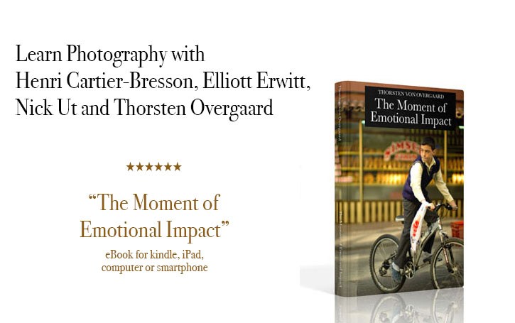 """""""The Moment of Emotional Impact"""" - The history of Street Photography. Learn Photography with Henri Cartier-Bresson, Elliott Erwitt, Nick Ut and Thorsten Overgaard"""
