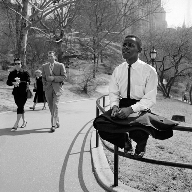 Here's a blast from the past. It's a Vivian Meier photo from Central Park.