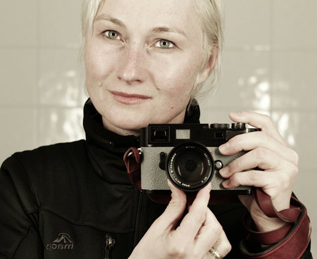Birgit Krippner Leica M9 with Griptac Medium Grey leather
