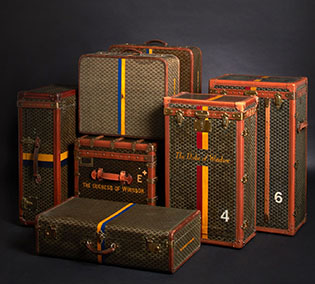 Coco Chanel's Goyard set also must take second or third place after Karl Lagerfeld.