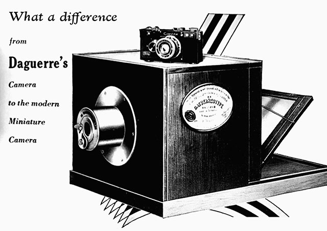 When the first rangefinder cameras came out a little over 100 years ago (as seen on top of this 'traditional camera' of the times), the camera became small and portable. It was a breand-new concept.