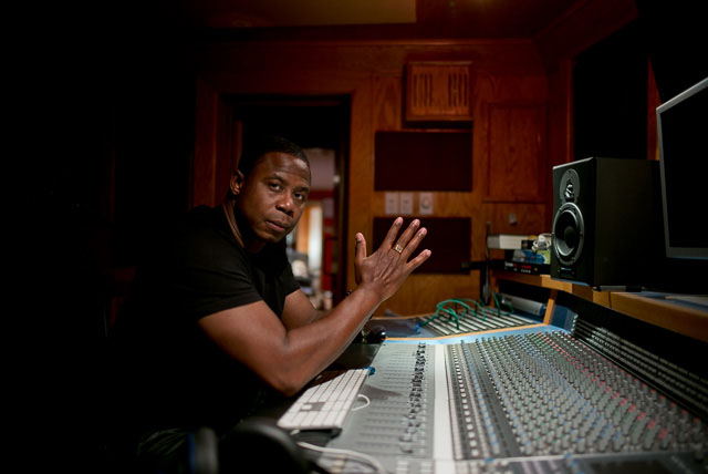 "Doug E Fresh, ""The Human Beatbox"" in his home studio in Harlem, New York. Leica M 240 with Leica 28mm Summilux-M ASPH f/1.4. © 2015 Thorsten Overgaard."