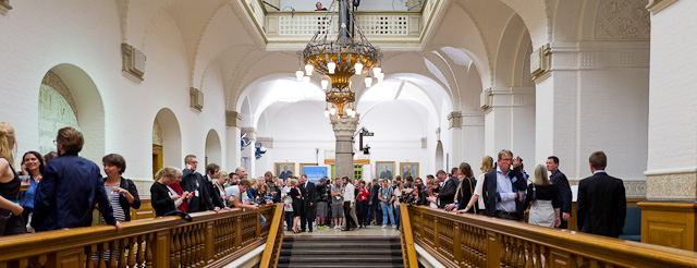 Election night in Denmark. The press waiting at the parliament in Copenhagen. Leica Q (1600 ISO, f/1.7, 1/2000 second). © Thorsten Overgaard.