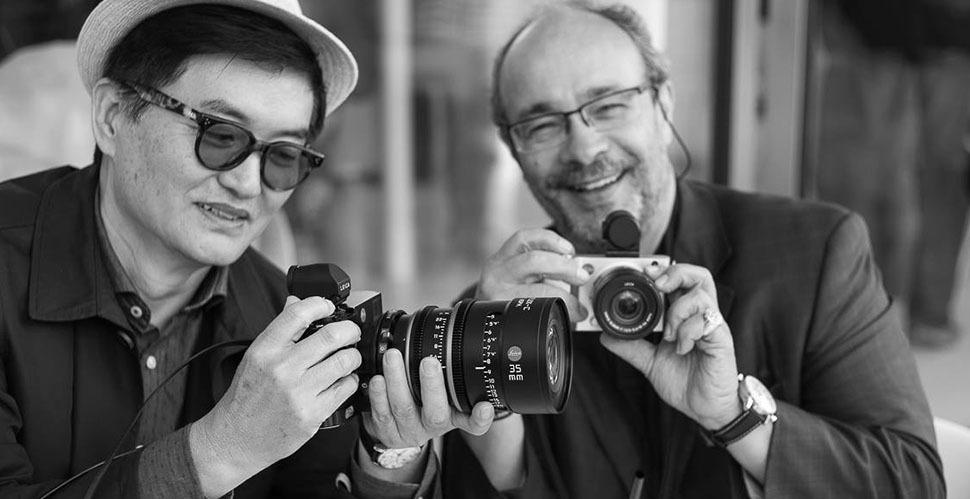 Ike Lee and Andreas Kaufmann with Leica Cine lenses on Leica M 240. Photo by Matthias Frei