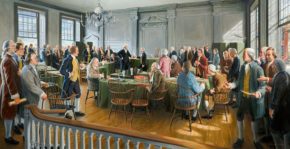 "An 28mm view on life: ""Signing of the American Constitution"" by Sam Knecht"