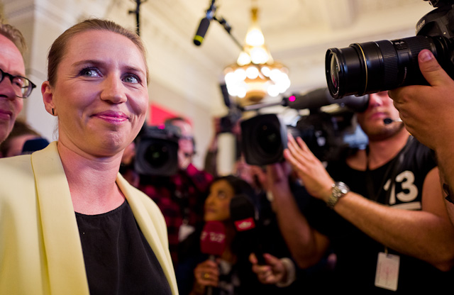 Election night with Leica Q. Danish Prime Minister to be Mette Frederiksen. © 2015-2019 Thorsten Overgaard.