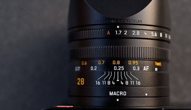Leica Q Macro Depth of Field Scale