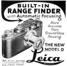 Maybe as simple as this: He used his first Leica, the Leica-Couplex (Leica D) with the 50mm Elmar f/3.5. He was said to black out the silver parts of the camera.