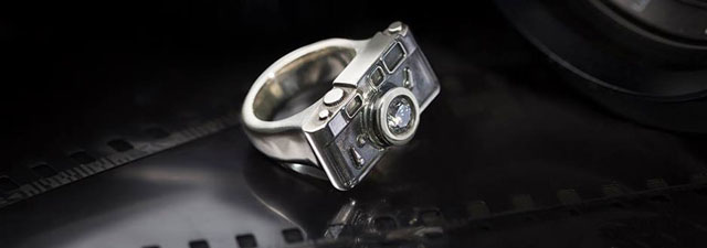 The beautiful Leica M3 ring made by jewelry designer Florian Huhoff, Berlin.