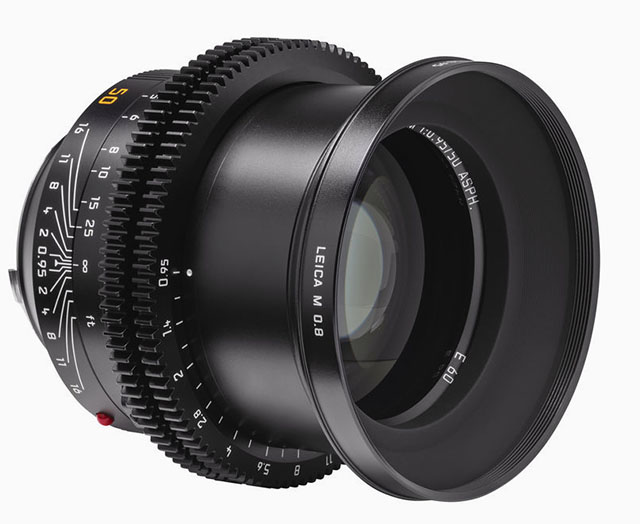 Leitz Cine 50mm 0.8, the cine version of the Leica 50mm Noctilux f/0.95.