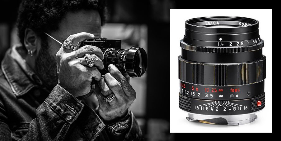 The limited edition 50mm Summilux in the Lenny Kravitz set is pre-brassed.
