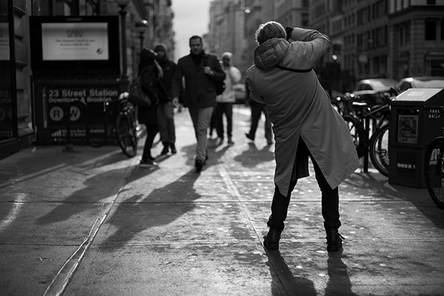 Out and about in New York with the Leica M9 earlier in February 2018. Photo by Philip Koury.