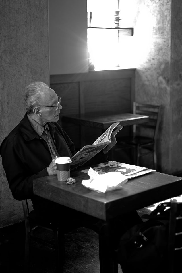 A photo from a cafe in San Francisco July 2011. Leica M9 with Leica 50mm Summicron-M f/2.0 II. © 2011-2016 Thorsten Overgaard.