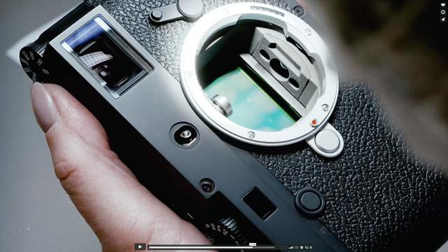 The Leica M bayonet on the Leica M10.