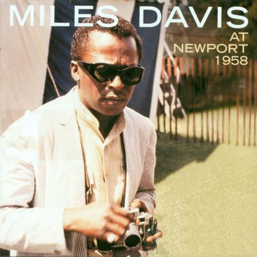 Miles Davis with his Leica on the cover of the Live at Newport 1958