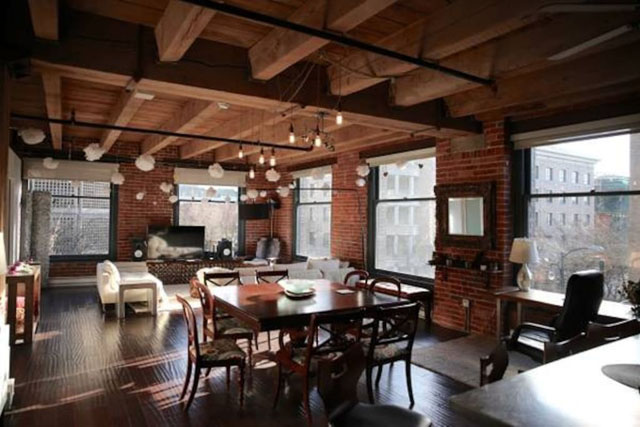 Our beautiful restored warehouse apartment in an old factory.