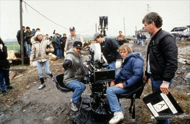 Steven Spielberg on the set of Empire with ELCAN lenses from Leitz