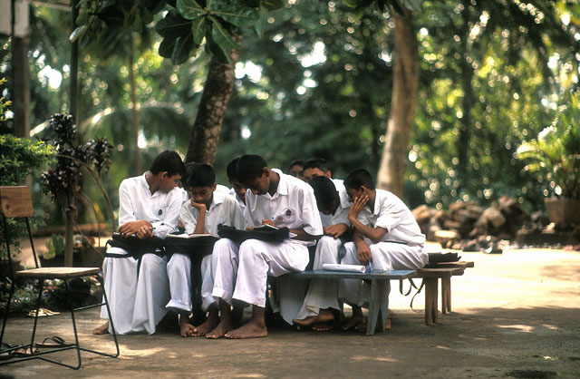 A Buddhist Sunday School, Sri Lanka. Leicaflex SL motor with Leica 80mm Summilux-R f1.4, 100 ISO Astia, Imacon/Hasselblad Flextight Photo scan. © 2005-2016 Thorsten Overgaard.