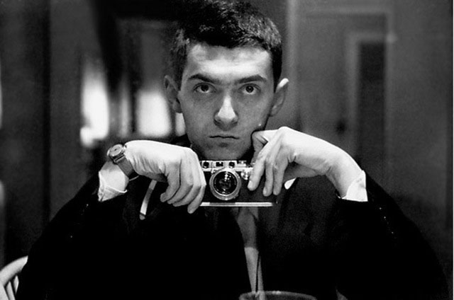 Stanley Kubrick with his Leica III