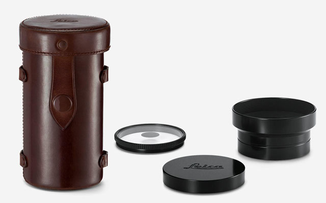 The new 2017 Thambar-M comes with all the rare goodies: The spot filter and the expensive shade. And a very nice leather container. Total price for Thambar-M with acessories is $6,495.00.