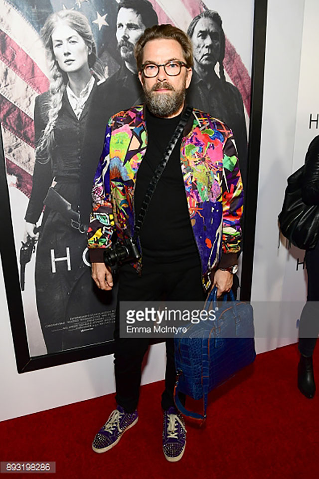 "Thorsten von Overgaard at the previewing of the ""Hostiles"" movie at Academy of Motion Picture Arts and Sciences in Hollywood, December 14. Photo by Emma McIntyre/Getty Images."