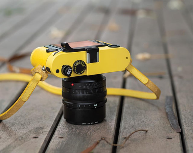 I stumbled over this Leica M240 in all yellow onthe Instagram feed of uncle_santa.