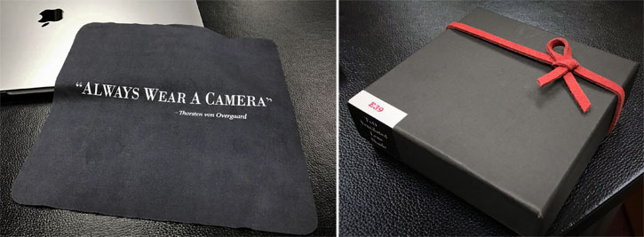"All orders comes with box and complimentary ""Always Wear a Camera"" ..!"